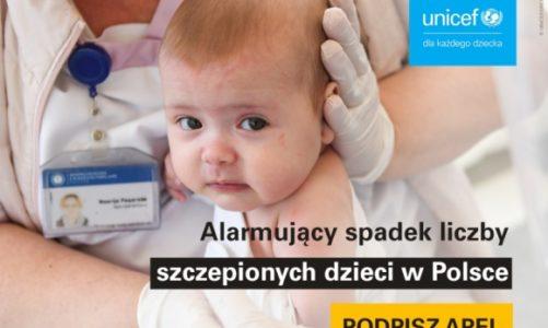 UNICEF alarmuje: W Polsce drastycznie maleje liczba szczepionych dzieci